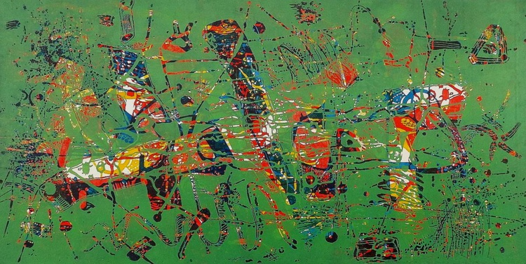 Composition-III(in green) - Image 0