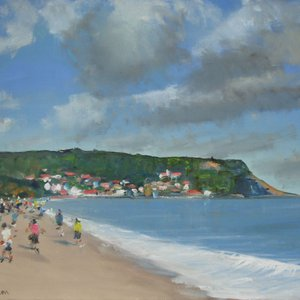 Runswick Bay on the Yorkshire Coast by Malcolm Ludvigsen