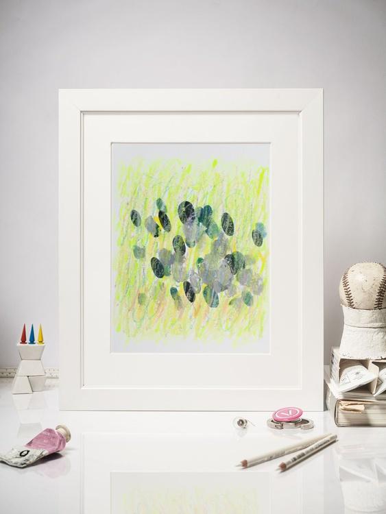 Rainy, 20x25cm Contemporary  Dots Drawing - Image 0