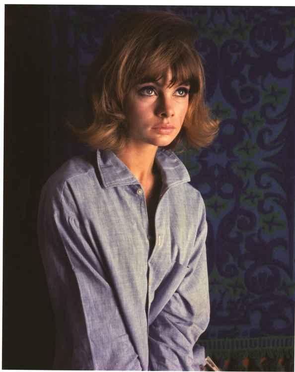 Jean Shrimpton wearing Ron's denim shirt No.2 1962