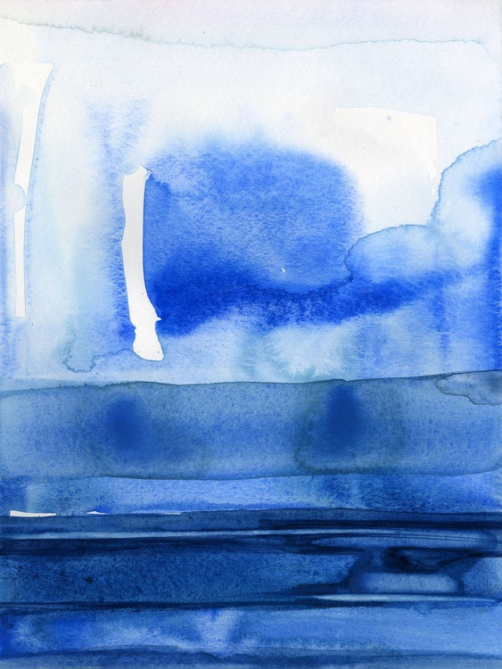 Finding Tranquility 3 - Abstract Zen Watercolor Painting - Image 0