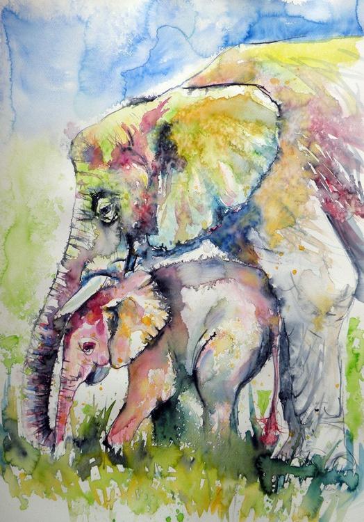 Elephants in love - Image 0