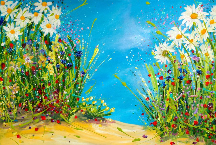 Blooming Dance with Daisies and Cornflowers - Image 0