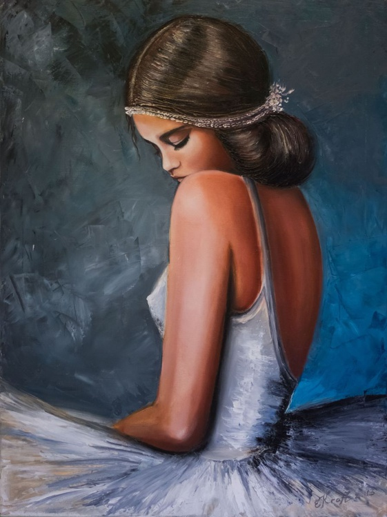 """Fragile""Original  oil painting on canvas 60x80x2 - Image 0"