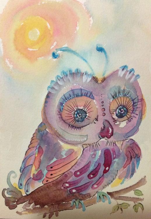 Purply Sungazer Woot Owl - Image 0