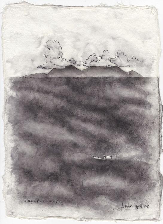 Deep Waters, Mersing, pen & ink - Image 0
