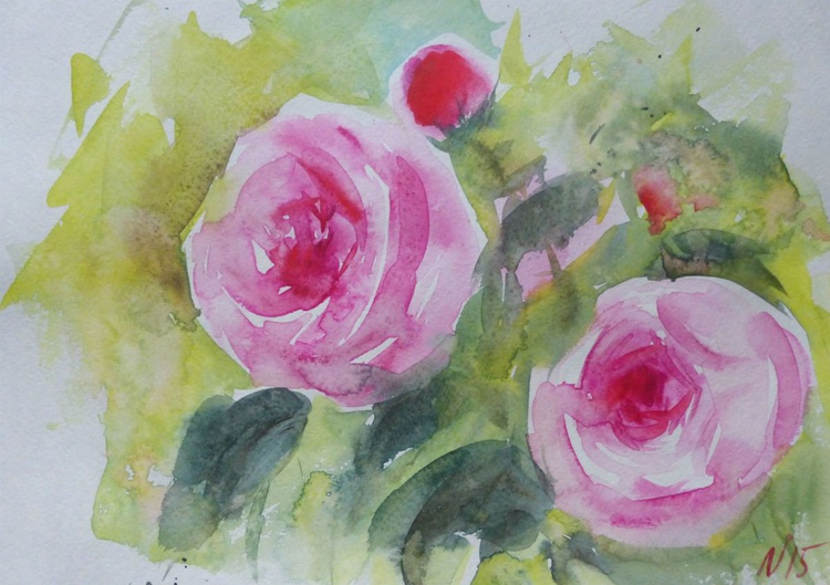 Floral fragrance, watercolor painting 30x21 cm - Image 0
