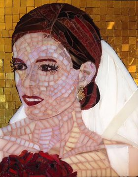 The Bride, Custom Mosaic by Beverly Thomas Jenkins - 621082a4bbf94c4aaa37cd5af6636ce7