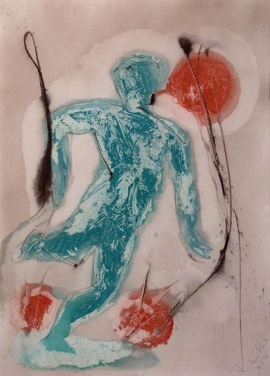 Prolegomena, Acrylic on paper #8, 42x59 cm - Image 0