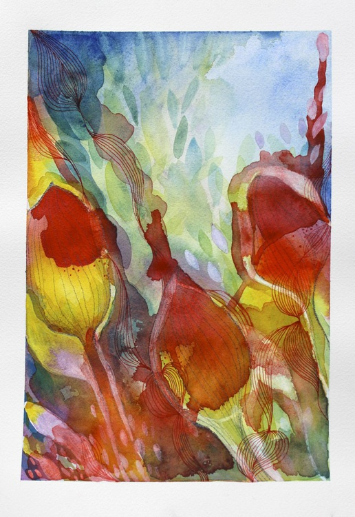 Red hot flowers - Image 0