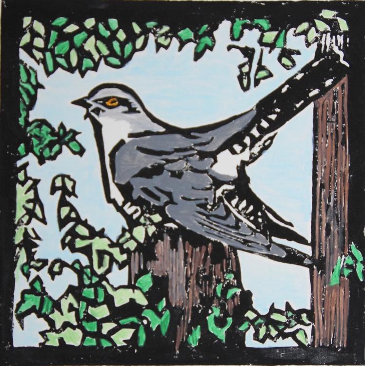 Cuckoo lino print - Image 0