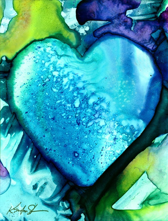 Heart Watercolor Painting - From The Eternal Heart Series - Eternal Heart no. 7 - Image 0