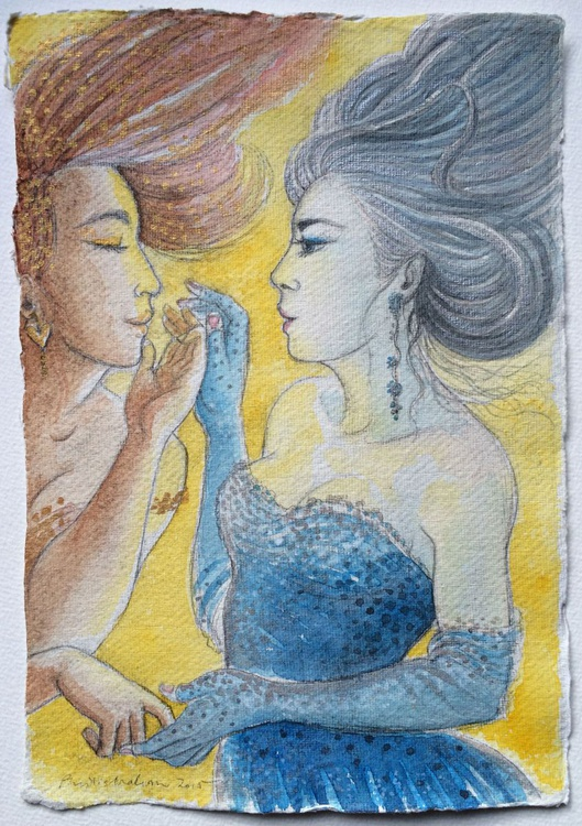 A friendship in silver and gold - Image 0