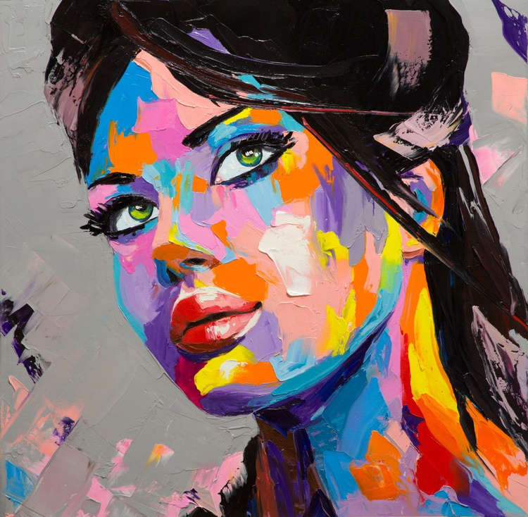 """""""On a sunny day"""" fantasy woman oil portrait - Image 0"""