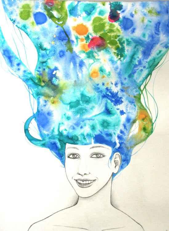 Windy spring morning (blue rainbow) -