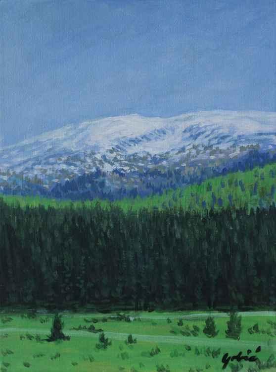 Snow on mountain -