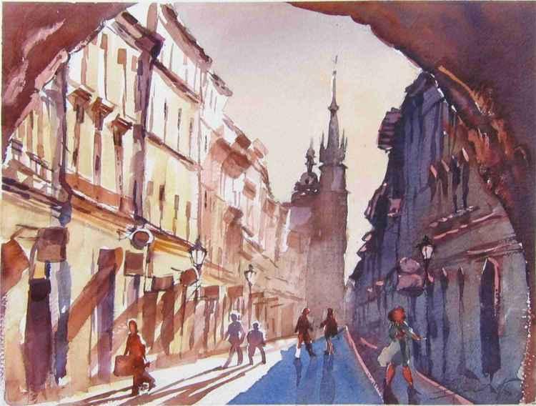 Krakow Florianska street -