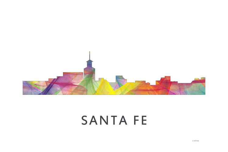 Santa Fe New Mexico Skyline WB1