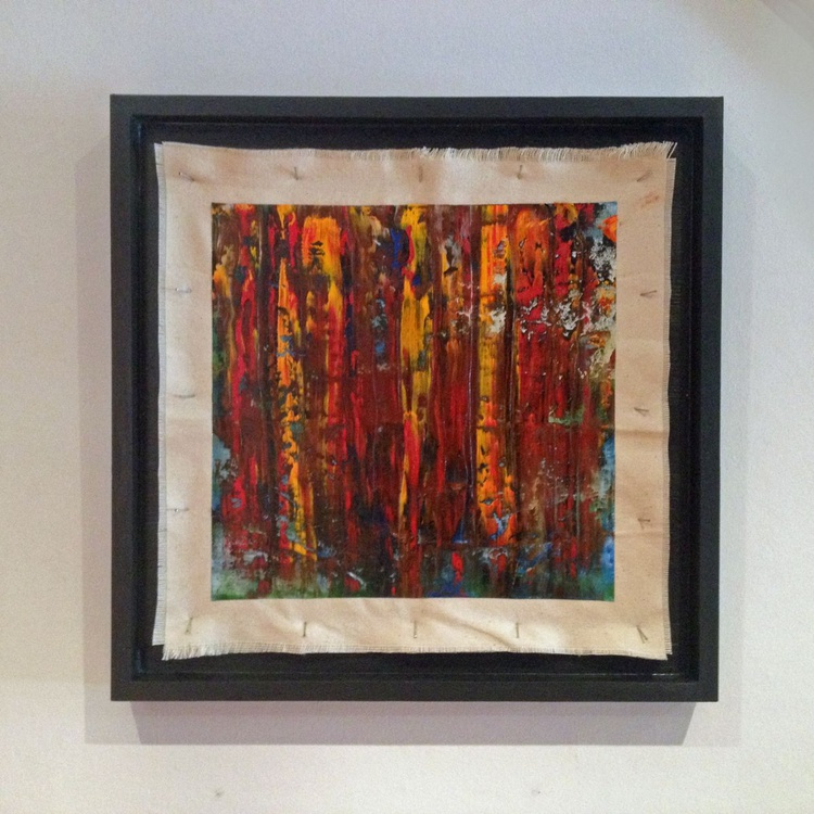 Through the Flames - Original One of a Kind Abstract Oil Painting - Image 0