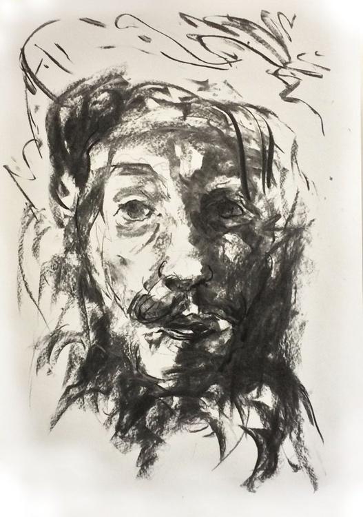 Study After Rembrandt's Falconer - Image 0
