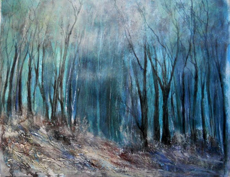 Sherwood ~ Acrylic on paper ~ English Impressionist Painter - Image 0