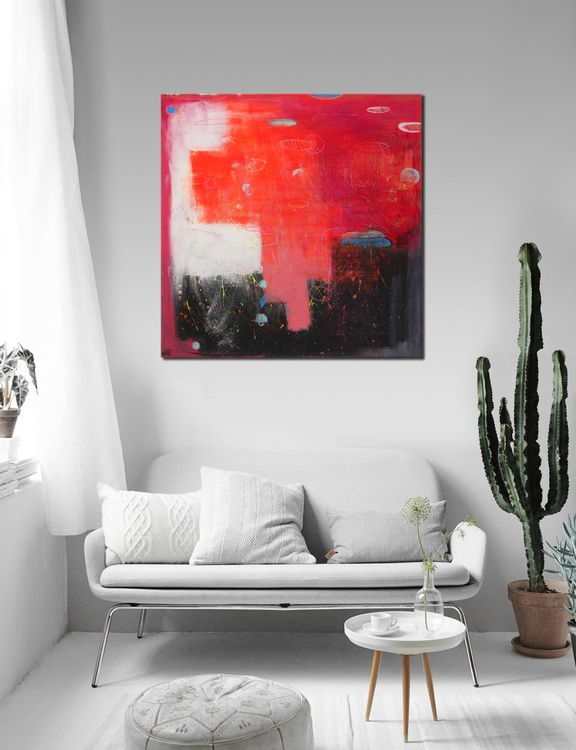 Abstract painting - Multiple floatings (16-36) - Ready to hang artwork - Image 0