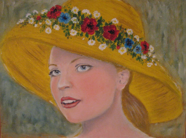 Girl in a Straw Hat - Image 0
