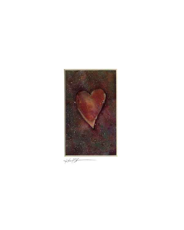 Heart Watercolor Painting, Abstract - Heart No. 818 -