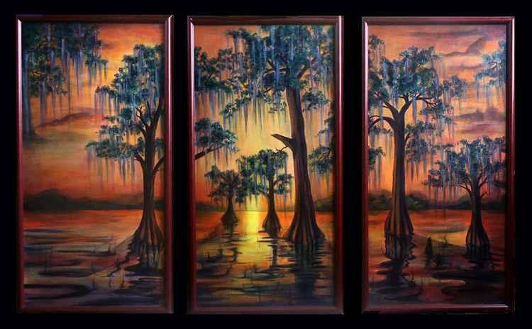 Bayou Sunset -