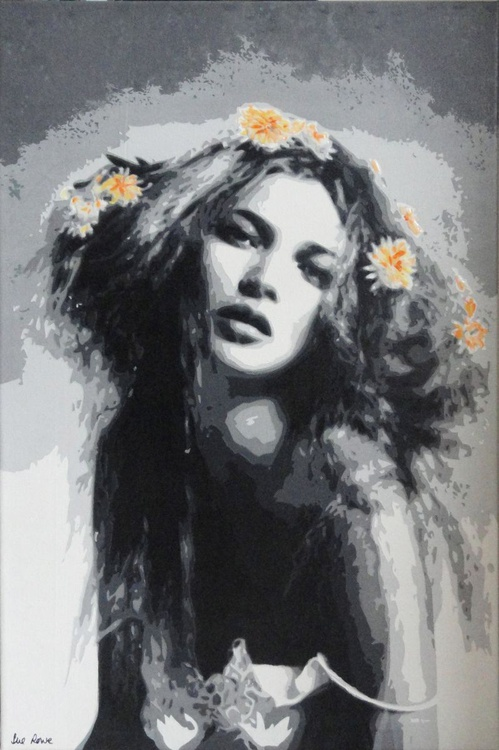 Kate Moss with Yellow Daisies - Image 0