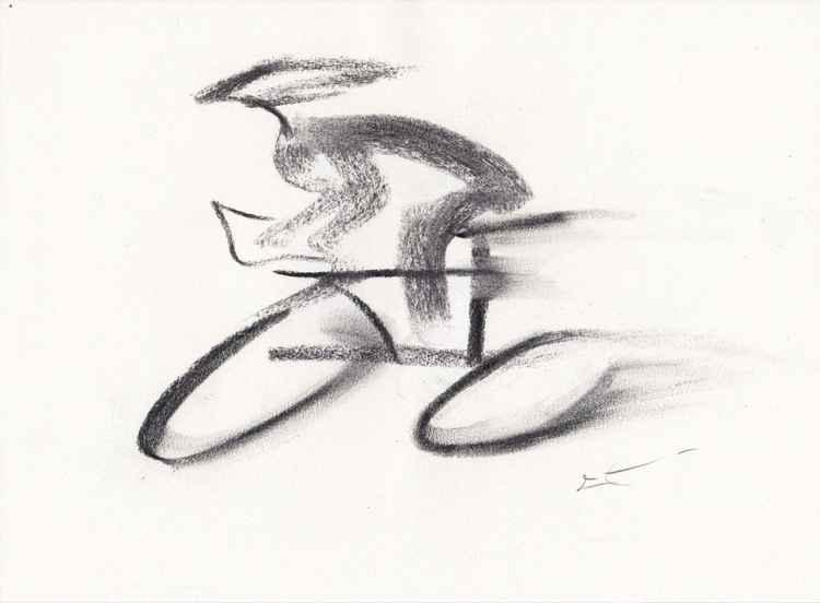 Esquisse - Cycliste -