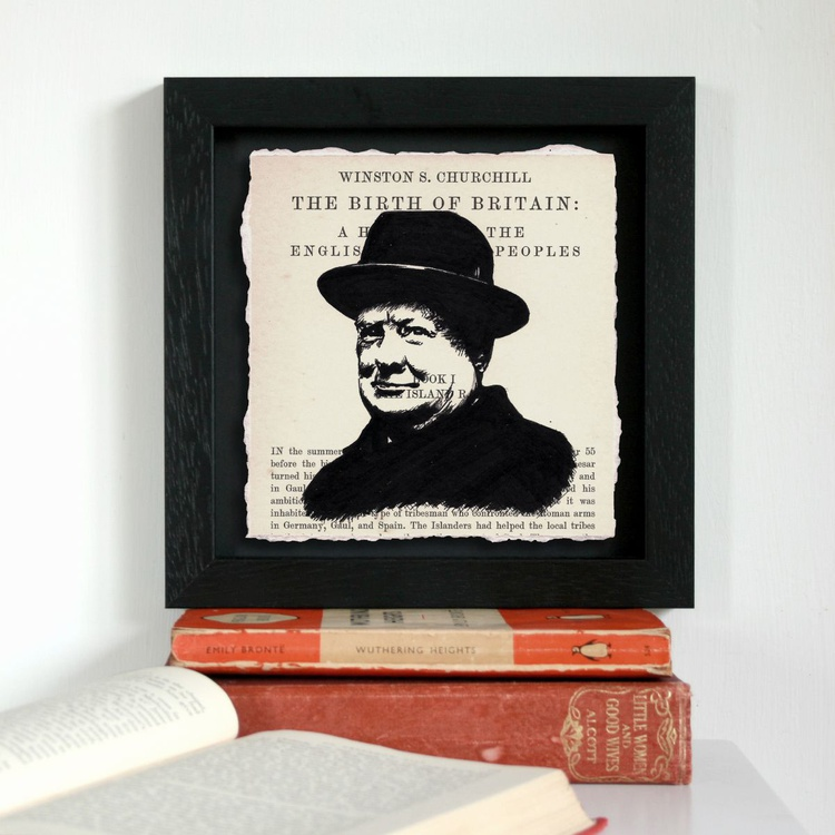 Churchill - A History of the English-Speaking Peoples (Framed) - Image 0