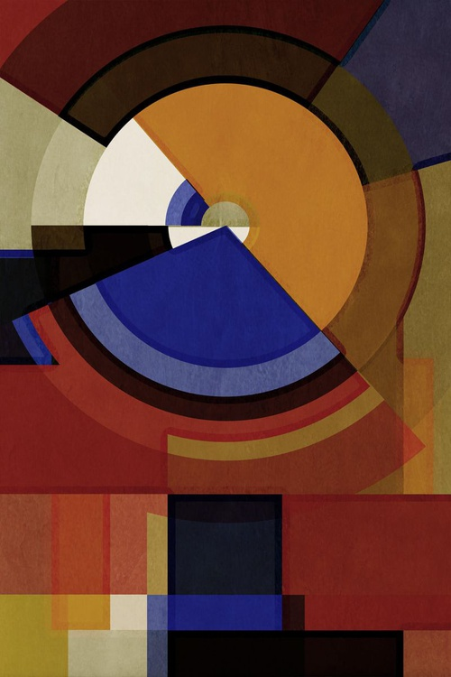 Hertz Van Bauhaus SIX, Abstract Geometric Art, Limited Edition of 6 - Image 0