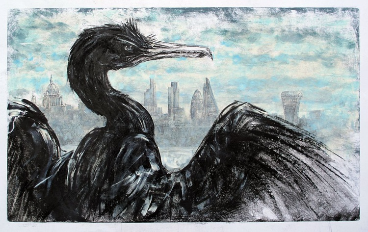 Cormorant, Thames, The City no.2 - Image 0