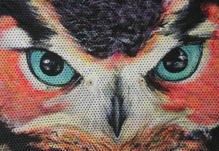 Purple pink Owl - Image 0