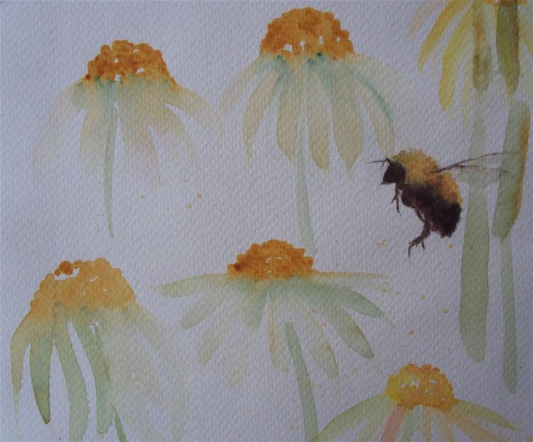 Bee & Coneflowers - Image 0