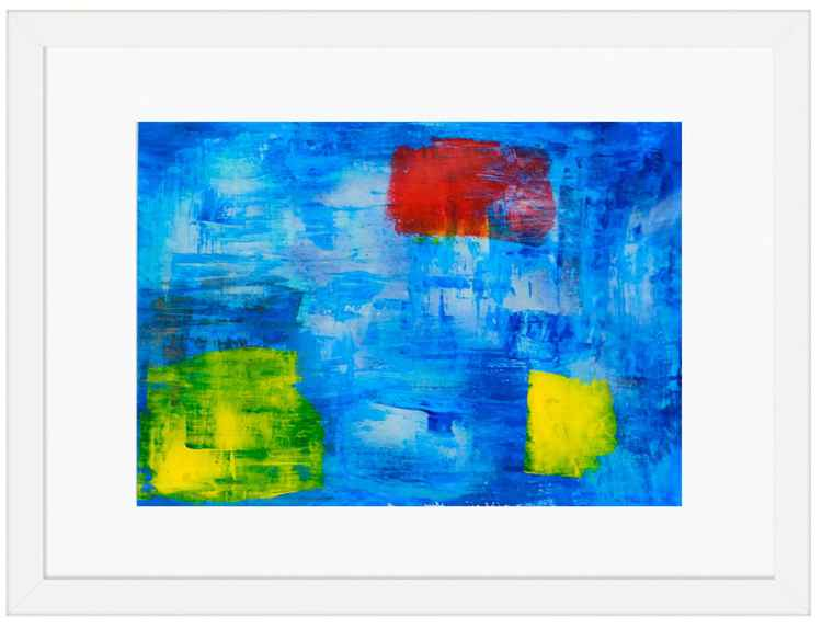Cubes on Blue -