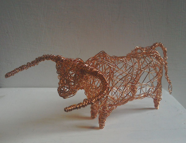Copper Wirework Cow. - Image 0