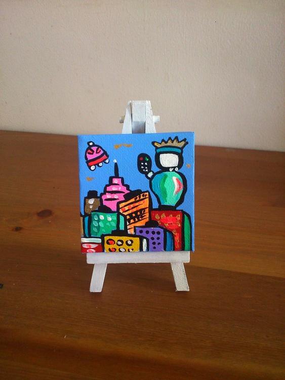 Little Statue of Liberty, stand included - Image 0