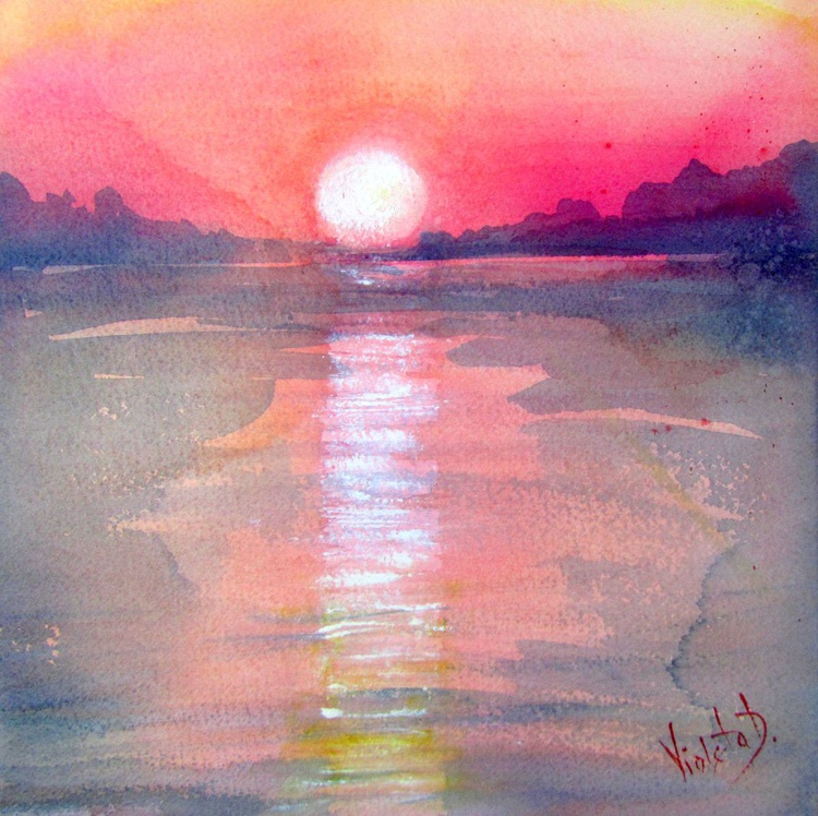 Homage to J.M.W. Turner: Sunrise in Santorini, Greece 5 - Image 0