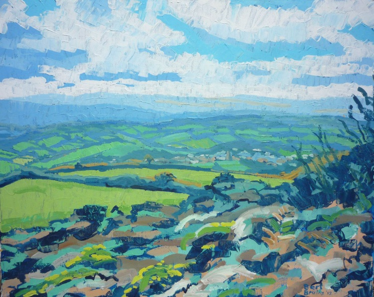 View of Dartmoor, looking down on Moretonhampstead - Image 0