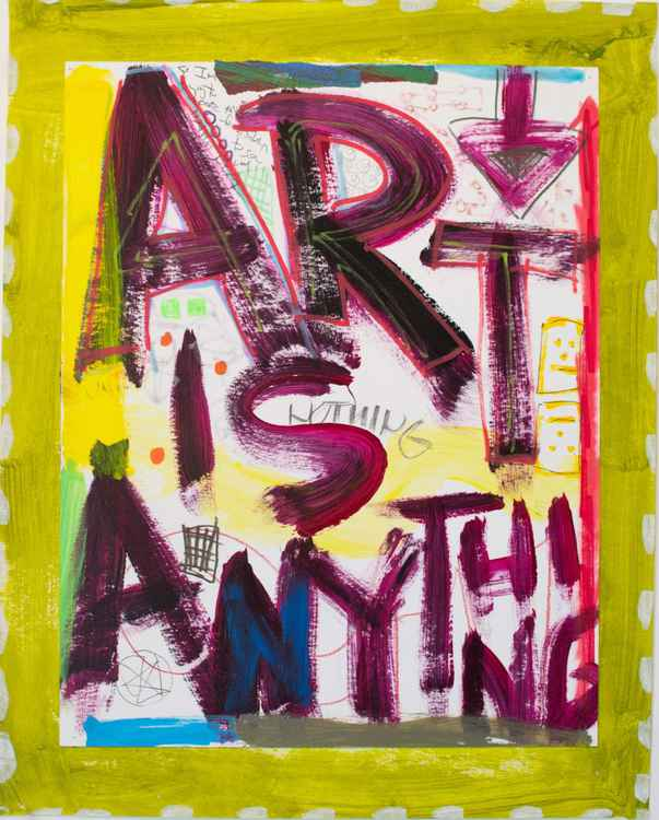 Art is Anything (Green) -