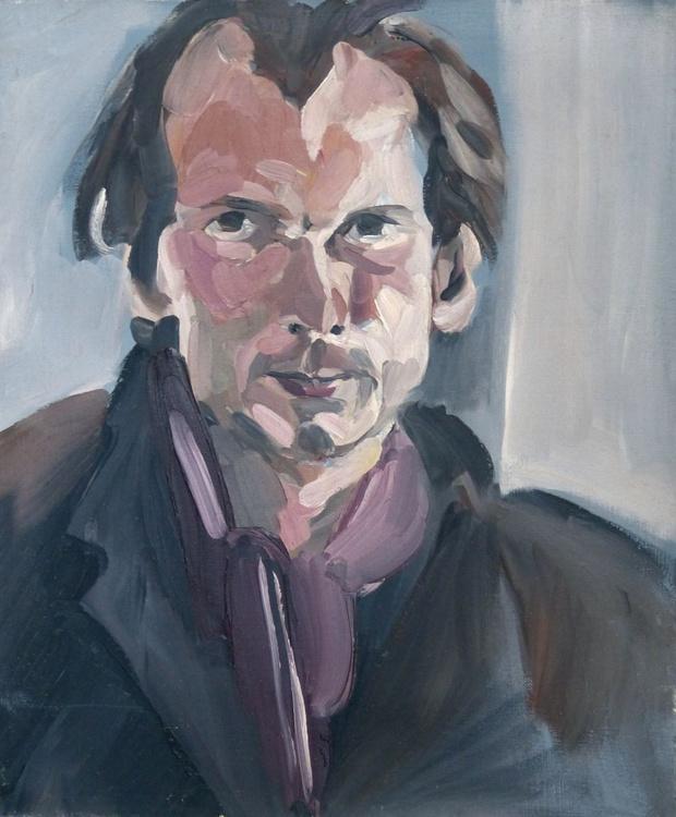 Portrait of Philippe Coupet, oil on canvas 38x46 cm - Image 0