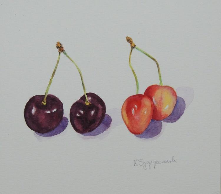 Two pairs of cherries - Image 0
