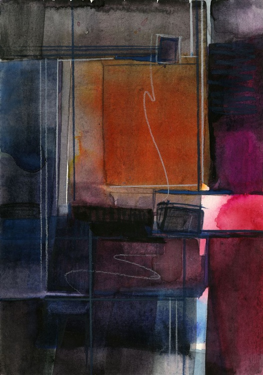 Mystic Wander 8 - Abstract Watercolor Painting - Image 0
