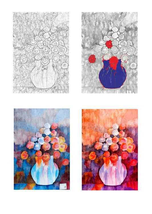 Four Vases -