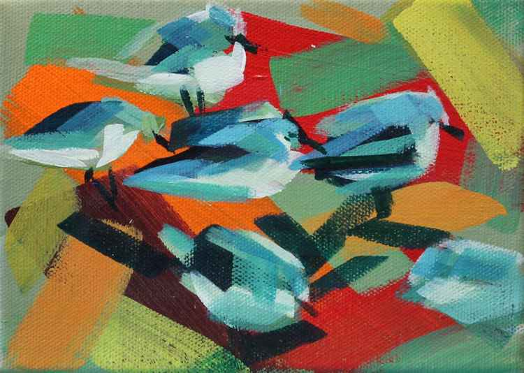 Waders front Miniature Study -