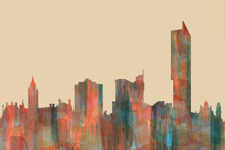 Manchester England Skyline - Navaho