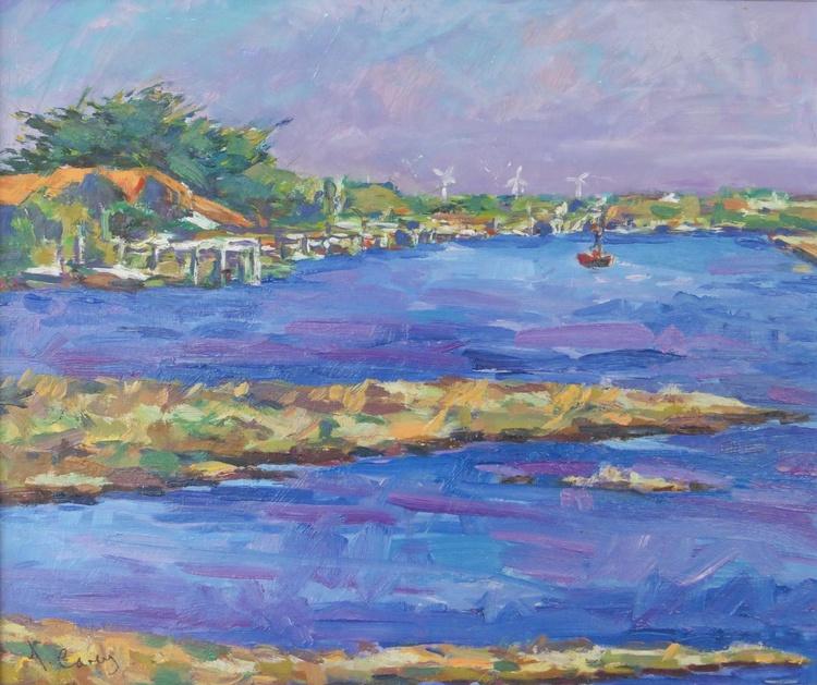 Blue Tide Red Boat - Image 0