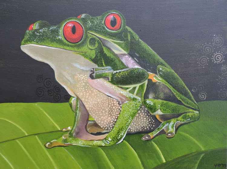 Two Frogs. -
